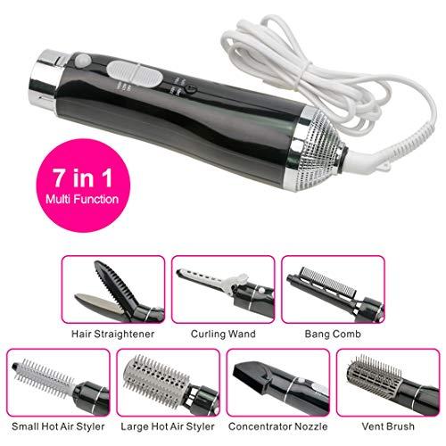 7-in-1 Multifunktionale Professionelle Styling Elektrische Haartrockner Haartrockner Set Hair Styling Pinsel Kamm