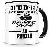 Samunshi® Ich denke an Panzer Tasse Kaffeetasse Teetasse Kaffeepott Kaffeebecher Becher