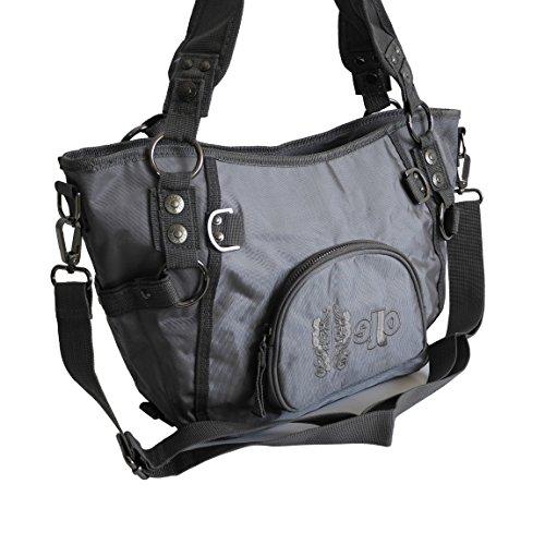 Jennifer Jones–sportiva–borsa da donna alla moda borsa a tracolla borsa Shopper–präsentiert von ZMOKA® in diversi stili Colori, grigio scuro (grigio) - 0 grigio scuro