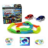 Glow Track, Kuultoy Twister Tracks, 220 PCS Magic Glow in the dark Tracks with 2 Race Cars