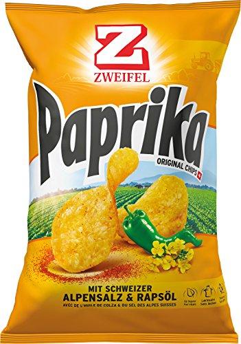 Preisvergleich Produktbild Zweifel Paprika Chips mit Schweizer Alpensalz & Rapsöl - 175 g