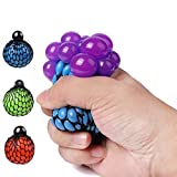 wp Fireboomoon Stress Relief Squeezing Soft Rubber Vent Grape Ball Hand Wrist Toy