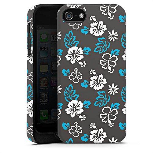 Apple iPhone X Silikon Hülle Case Schutzhülle Flower Retro Muster Tough Case matt