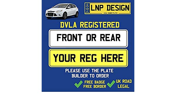 PlateServices REAR NUMBER PLATE IMPORT SIZE 13 x 7 330mm x 178mm