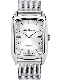 Ben Sherman BS137 - Reloj de cuarzo para hombres con esfera de plata y correa plateada