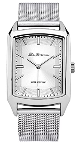 Ben Sherman Men's BS137 Quartz Watch with Silver Dial Analogue Display and Stainless Steel Bracelet