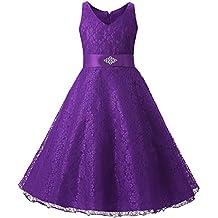 Free Fisher - Niñas Vestido Falda del Cordón del Tutú para Fiesta del Vestido de Boda Aniversario Ceremonia