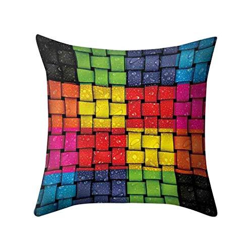 AOGOTO Kissenbezug Polyester Sofa Geometriedruck Autositzbezug Heimtextilien 45 X 45 cm