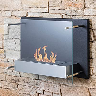 Mojave Garden Wall Mounted Patio Bio-Ethanol Burner Indoor Outdoor Fireplace