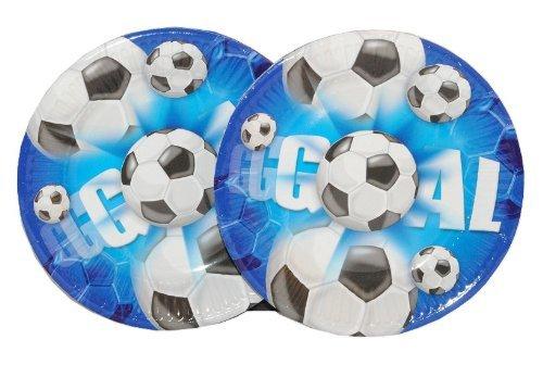 Football Fußball 10 Teller Klein Kindergeburtstag