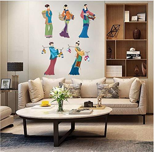 Alte frauen gehen auf den markt wandaufkleber für wohnzimmer schlafzimmer kunst home portrait decals abnehmbare diy kunst murals tapete