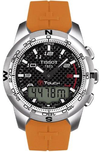 Tissot t-touch II nero quadrante orologio da uomo # t047.420.47.207.01