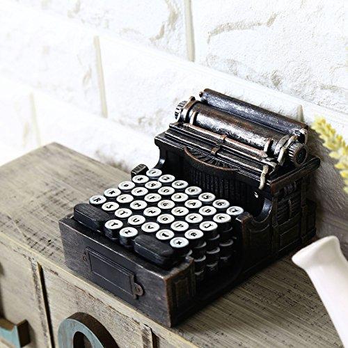 Su @ da Vintage/de estilo antiguo café tiendas/manualidades/decoración/resina alfombrilla de fotos nuevo/accesorios/máquina de escribir e26-0526-dzjpd