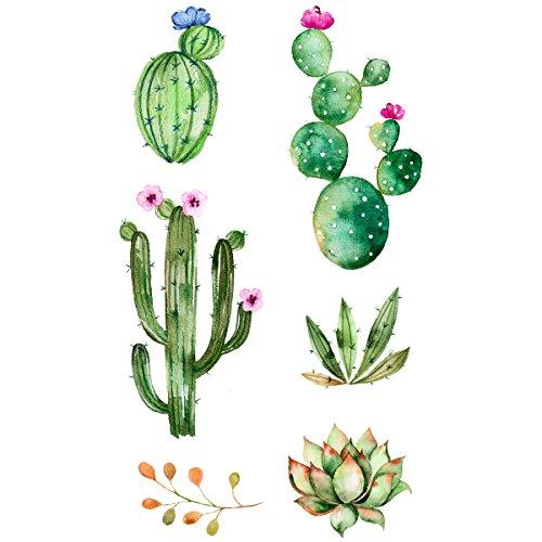 Preisvergleich Produktbild TINKD Temporary Tattoo Cactus - Kaktus - Hochwertige temporäre Klebetattoos - Made in Germany - Dermatologisch getestet - Design Flash-Tattoos zum Aufkleben
