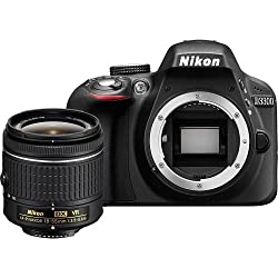 Nikon D3300 24.2MP Digital SLR Camera, Black with AF-P DX NIKKOR 18-55mm f/3.5-5.6G ED VR Lens, Memory Card and Camera Bag