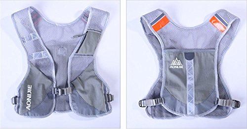 Imagen de aonijie  senderismo  hidratación maratón macho ligero chaleco escalada ciclismo , gris alternativa