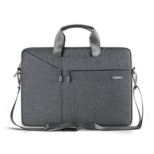 13 - 13.3 Zoll Surface Pro Tasche Wasser beständiger glatt Gewebe Umhängetasche mit Abnehmbar Schultergurt und Tragbar Griff für 13