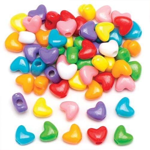 """Baker Ross Pony-Perlen """"Herz"""" für Kinder zum Gestalten von Schmuck, Perlenarbeiten und Collagen (350 Stück)"""