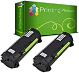 2 Toner Compatibili 51B2000 51B00A0 Cartucce Laser per Lexmark MS317dn MS417dn MS517dn MS617dn MX317dn MX417de MX517de MX617de - Nero, Alta Resa (2.500 Pagine)