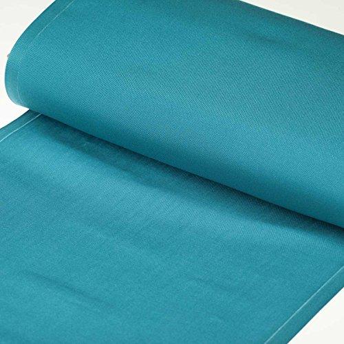 Tissu toile d'extérieur transat - Largeur 43cm - Bleu piscine - PAR 50CM