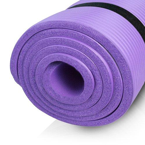 diMio Yogamatte / Pilatesmatte 185 x 60 cm, phlatatfrei + SGS-geprüft, rutschfest (Lila, 1 cm)
