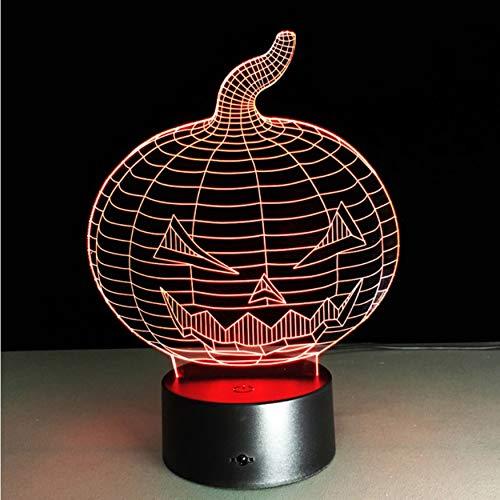 Nachtlicht Halloween Kürbis Schädel 3D Usb Led Nachtlicht 7 Farben Ändern Stimmung Lampe Touch-Taste Kinder Schlafzimmer Lampe