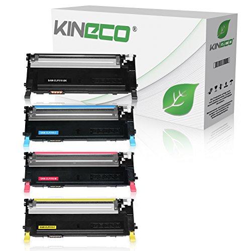 4 Toner kompatibel zu CLP-310, CLP-315, CLX-3170FN, CLX-3175FN - Schwarz 2.500 Seiten, Color je 2.000 Seiten (Toner Refill Patrone 4)