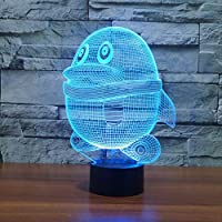 Visual Source Lamp, 7 Color Change 3D Animal Penguin Night Light Table Desk Lamp Flat ABS Be Charger Home Decoration Brithday Store 3D LED Table Lamp Visual Light Gifts 3D