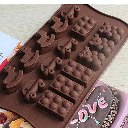 EVTECH(TM)Silikon Muffinform Muffin Form Muffinförmchen Farben Kuchen Cup Cake Pudding Gelee Mini-Cupcake Formenset Kuchenformen Cupcake Form Backform(die Farbe kann variieren)