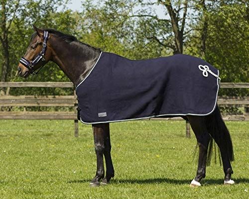 QHP Luxoriöse Wolldecke mit Kordelbordüre