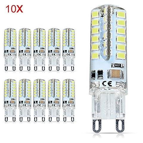 10X G9 Ampoules LED 3.5W Lampe LED 48 SMD 2835LED