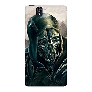 Luxirious Deadly Skull Back Case Cover for Sony Xperia Z