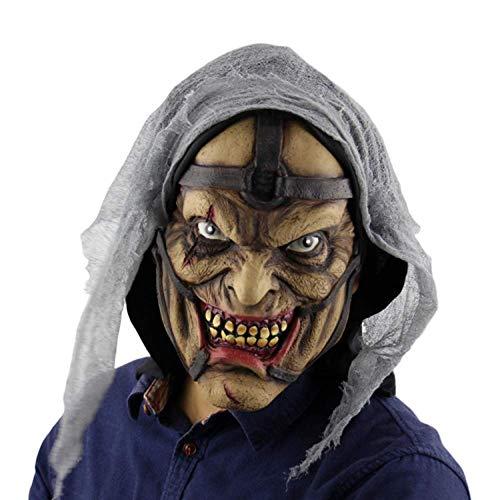 YEARYOWN Halloween Maske Horror Zuhälter Monster Prom Bar Dress Up Requisiten Latex Ghost Mask