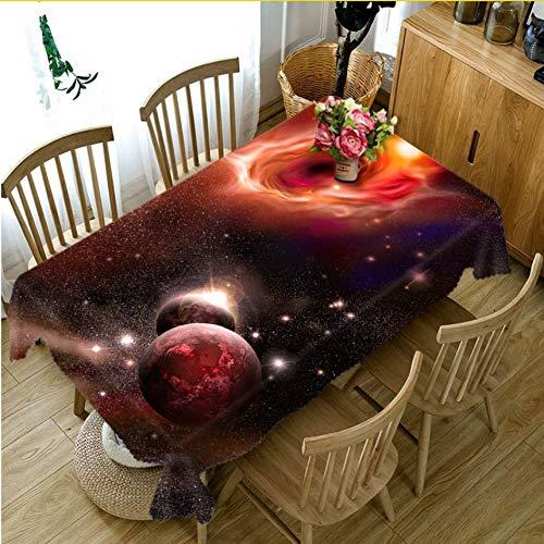 Djkaa Universum Galaxy 3D Tischdecke Polyester Dinner Party Couchtisch Tuch Runde Rechteckige Wasserdichte Tischabdeckung Hause Dekorative