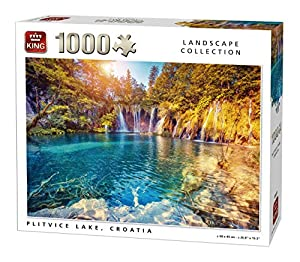 King Landscape Collection Plitvice Lake 1000 pcs Puzzle - Rompecabezas (Puzzle Rompecabezas, Paisaje, Adultos, Hombre/Mujer, 8 año(s), Cartón)