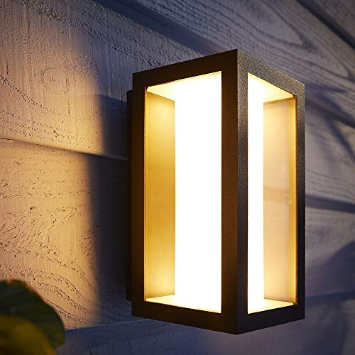 Philips Hue White & Color Ambiance Impress Außenlampe, schwarz, 240 x 190 x 117 | Außenbeleuchtung App Steuerung google Home, Apple HomeKit | IP44 Outdoor Hauswand Balkon Terrasse