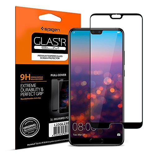 Spigen, Panzerglas kompatibel mit Huawei P20 Pro, Schwarz Volle Abdeckung, Easy Install Kit, 9H gehärtetes Glas, Antikratz, Glas 0.33mm, Huawei P20 Pro Panzerglas (L23GL23082) -