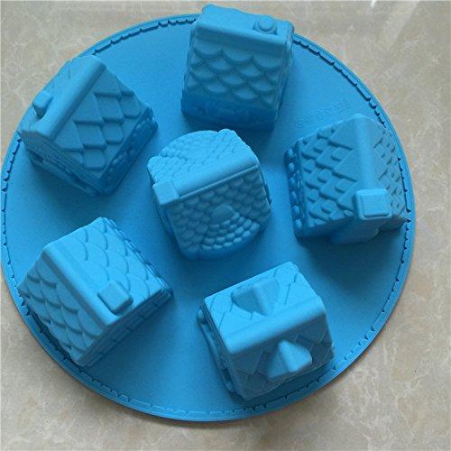 Silikon Kuchenform Silikon kreative Haus Reis Kuchenform, blau