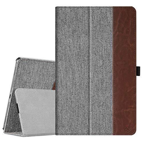 Fintie Hülle für Samsung Galaxy Tab A 10,1 T510/T515 2019 - Premium Stoff Folio Schutzhülle mit Standfunktion und Stylus-Halterung für Samsung Galaxy Tab A 10.1 Zoll 2019 Tablet, Denim grau