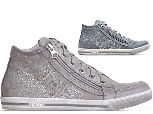 Nero Giardini P615111D Grigio e Navy Sneakers Scarpe Donna Calzature Comode
