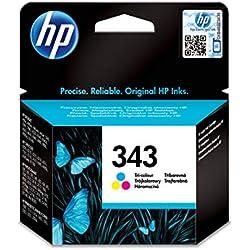 HP 343 Cartouche d'Encre Trois Couleurs (cyan, magenta, jaune) Authentique, pour HP Photosmart 2570/C3170 et HP PSC 1510/1600 (C8766EE)