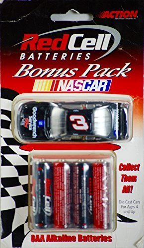Dale Earnhardt #3 Bonus Pak Red Cell 8 AA Batteries 2000 1/64 Diecast Car by Action Performance (Performance Pak)