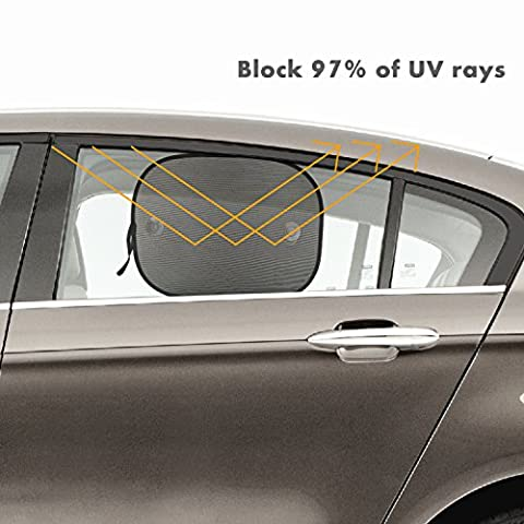 Window Shade for Car Interior Screen Double-layer Mesh Car Sun Shade Block the Sunlight Protect Baby from Sunlight