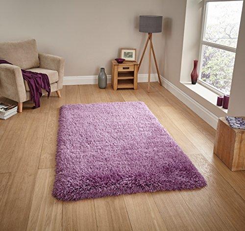 Think Rugs handgetufteter, schwerer Hochflor-Teppich »Montana«, Lilac, 150 x 230 Cm