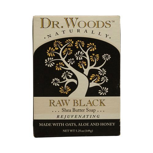 Dr. Woods Bar Soap Raw Black, 5.25 Ounce - (Pack of 3) by Dr. Woods (Dr. Woods Black Soap)