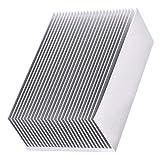 ALONGB Dissipatore di Calore Dissipatore di Calore in Alluminio di Raffreddamento per modulo IC a Transistor Amplificatore a LED 100 x 69 x 36mm Dissipatore di Calore 1 pz