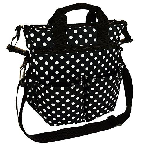 Baby Wickeltasche Kinderwagentasche Reisetasche Windeltasche Pflegetasche Babytasche Tragetasche Muster schwarz und weiß Dots BIG Dots BIG [059]