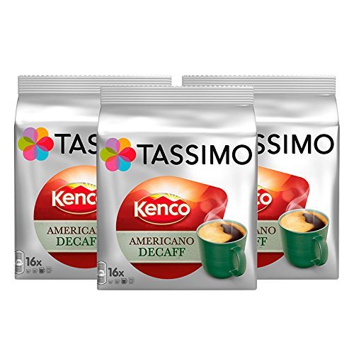 Tassimo T Discs Kenco Americano Decaf (3 Pack, 48 T discs/pods), 48 Servings 51Q 2BE5WipkL