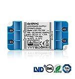 Gr4tec LED Trafo Transformator EMC DC 12V 15W 230V 100V - 240V 1.25A Netzteil Treiber für G4 MR16 MR11 Strip Überlastungsschutz Temperatursicherung ohne Mindestlast 0,5 - 15 Wa