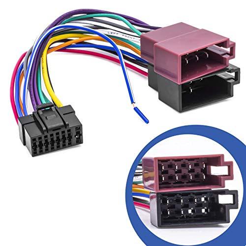 DIN ISO Auto Radio Adapter Kabel Stecker kompatibel mit Alpine CDA CDE RM R RB E RI CDM FLEX